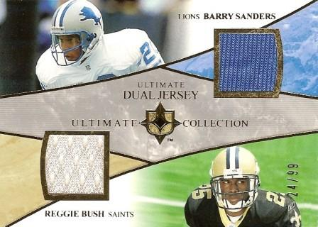 2006 Ultimate Collection Jerseys Dual #UDSB Barry Sanders/Reggie Bush