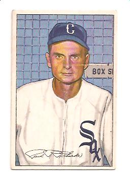 1952 Bowman #93 Paul Richards MG