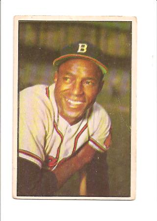 1953 Bowman Color #3 Sam Jethroe