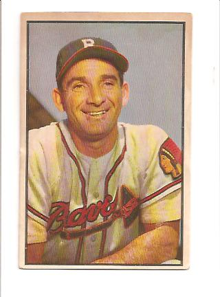1953 Bowman Color #5 Sid Gordon