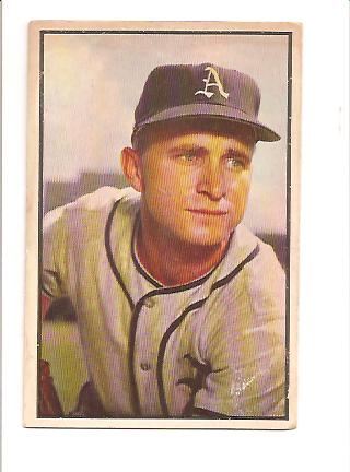 1953 Bowman Color #11 Bobby Shantz