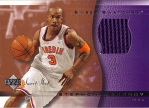 2003-04 Sweet Shot Sweet Swatches #SMSS Stephon Marbury