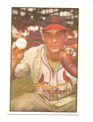 1953 Bowman Color #53 Del Rice