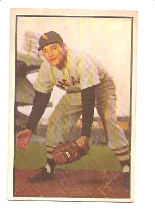 1953 Bowman Color #54 Chico Carrasquel