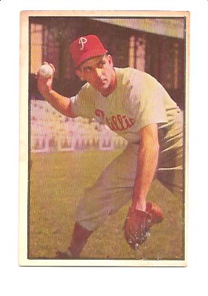 1953 Bowman Color #60 Granny Hamner