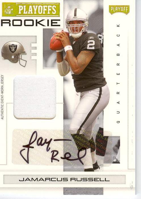 2007 Playoff NFL Playoffs Material Signatures Gold #115 JaMarcus Russell