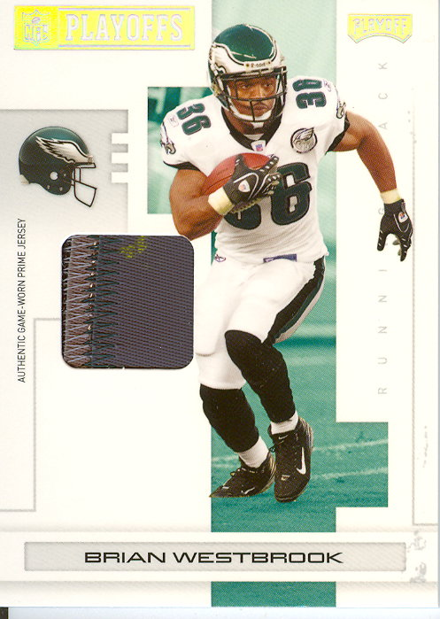 2007 Playoff NFL Playoffs Materials Silver Prime #73 Brian Westbrook