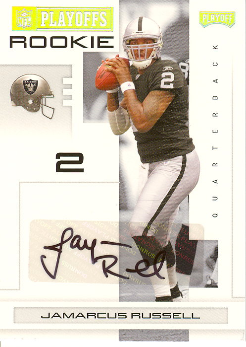 2007 Playoff NFL Playoffs Signatures Silver #115 JaMarcus Russell/10