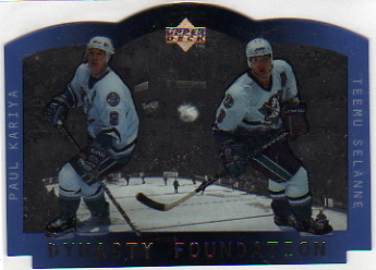 1996-97 Upper Deck Ice Stanley Cup Foundation Dynasty #S6 Paul Kariya/Teemu Selanne