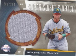 2006 Sweet Spot Super Sweet Swatch #NS Nick Swisher Jsy/299