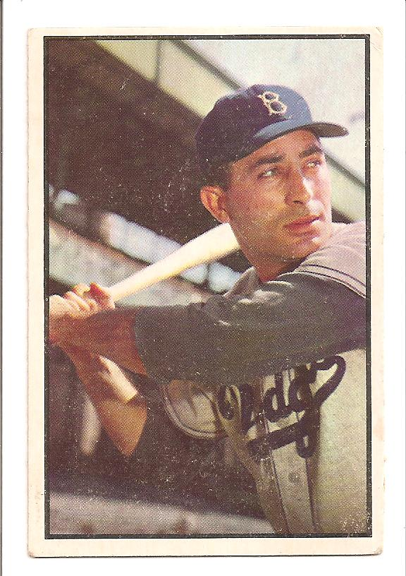 1953 Bowman Color #78 Carl Furillo