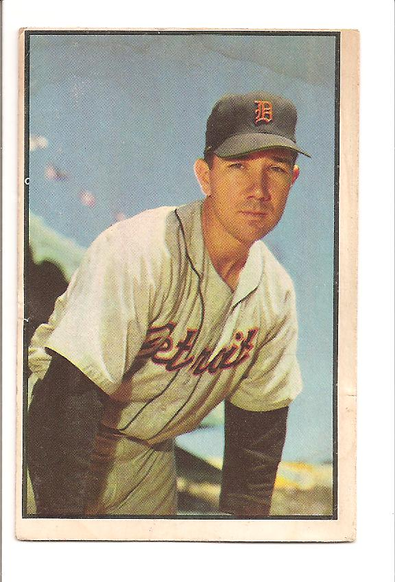 1953 Bowman Color #100 Bill Wight
