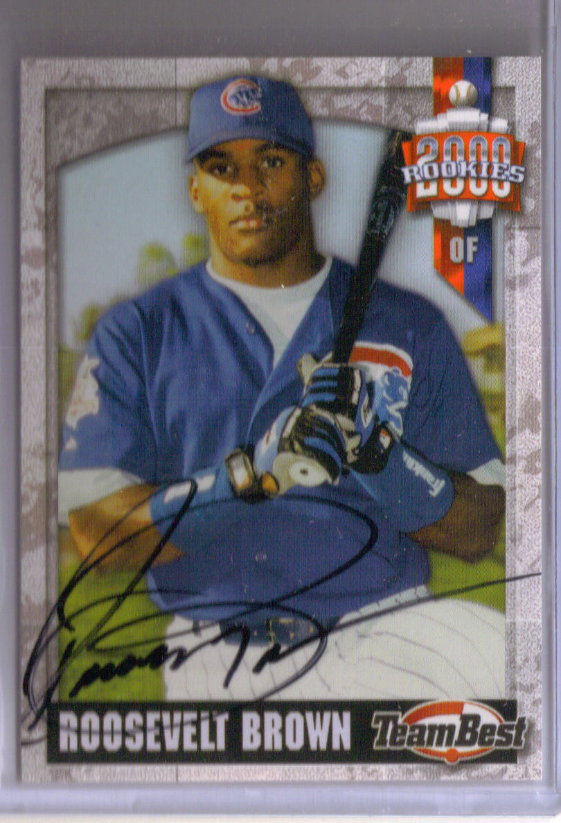2000 Team Best Rookies Autographs #12 Roosevelt Brown S2 front image