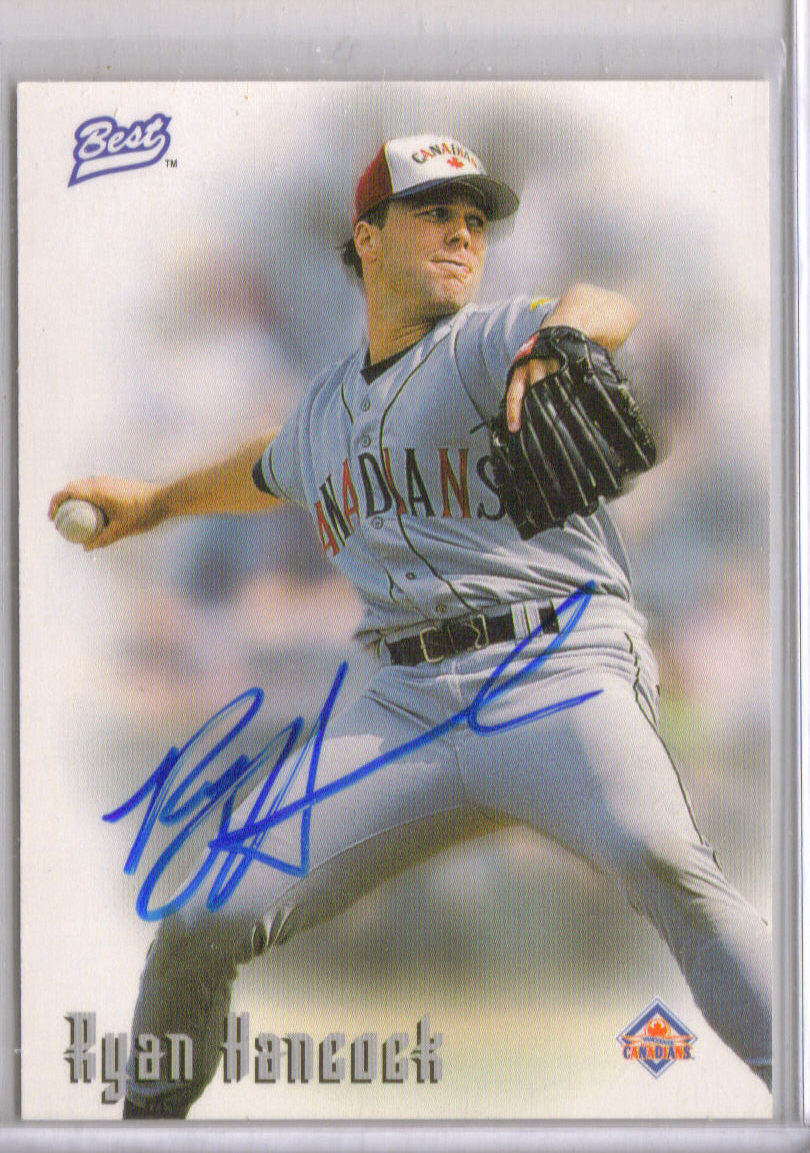 1997 Best Autographs Autograph Series #16 Ryan Hancock front image