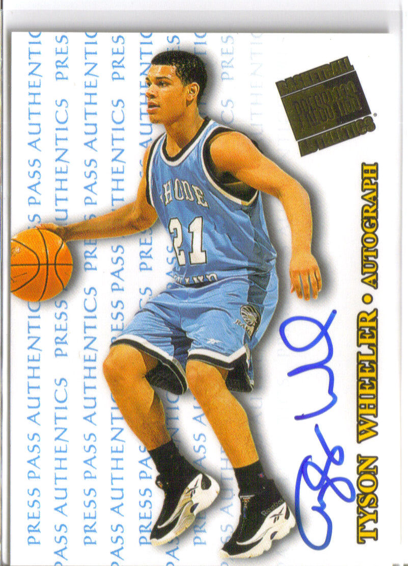 1998 Press Pass Authentics Autographs #27 Tyson Wheeler front image