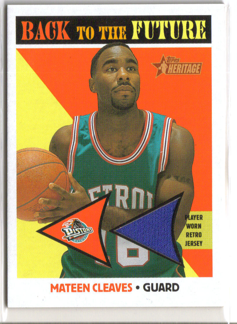 2000-01 Topps Heritage Back to the Future Game Jerseys #BF3 Mateen Cleaves front image