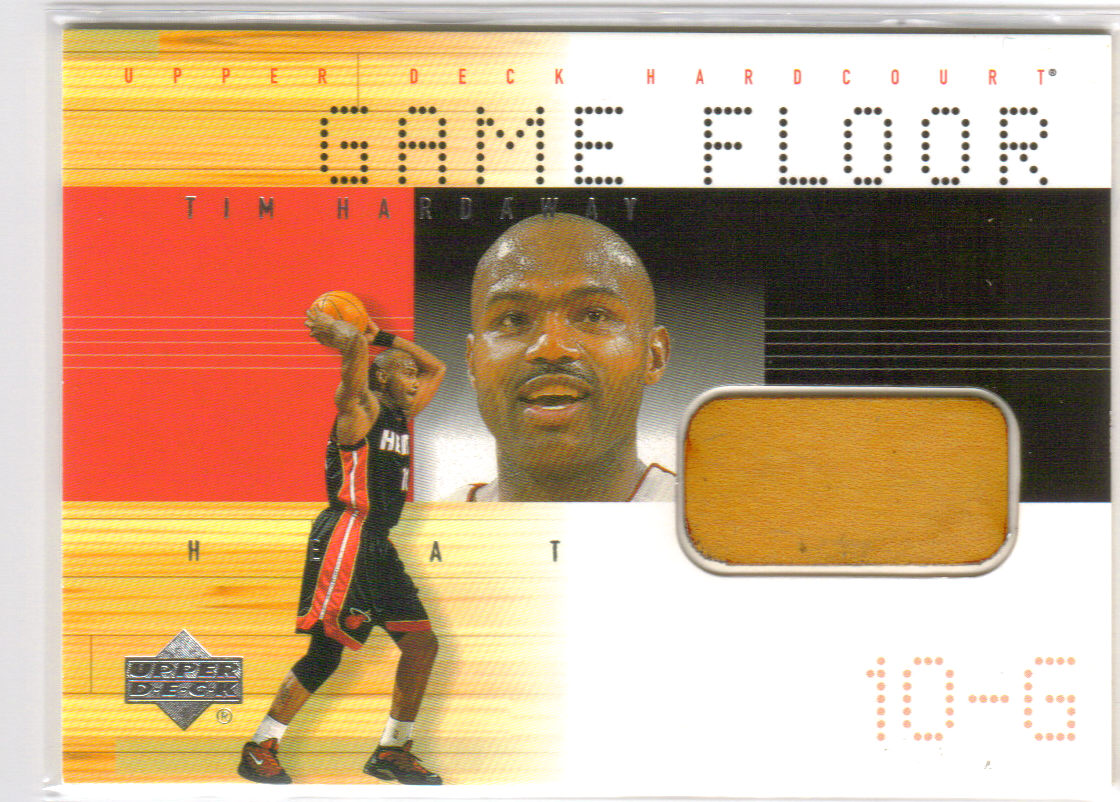 2000-01 Upper Deck Hardcourt Game Floor #THF Tim Hardaway front image
