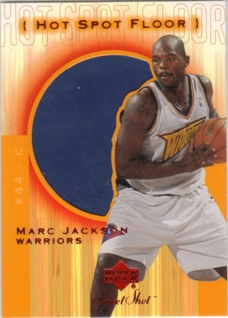 2001-02 Sweet Shot Hot Spot Floor #MAF Marc Jackson