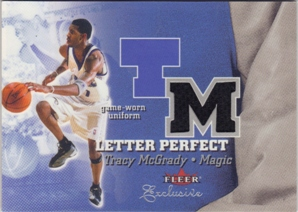 2001-02 Fleer Exclusive Letter Perfect JV #17 Tracy McGrady