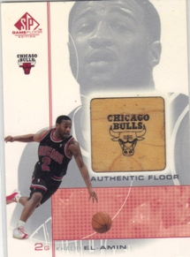 2000-01 SP Game Floor Authentic Floor #KE Khalid El-Amin