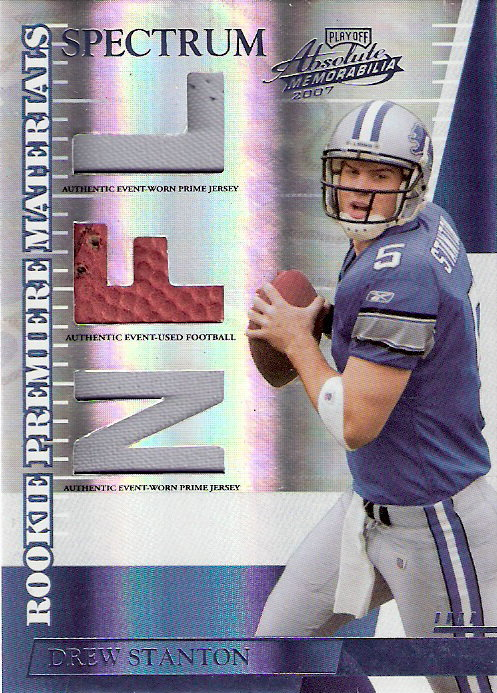 2007 Absolute Memorabilia Rookie Premiere Materials Spectrum Prime #266 Drew Stanton