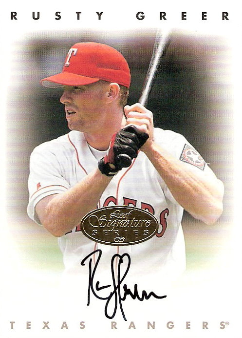 1996 Leaf Signature Autographs Gold #85 Rusty Greer