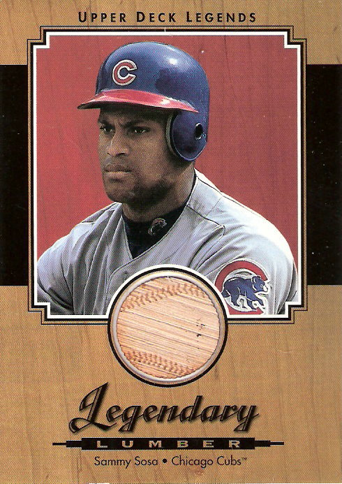 2001 Upper Deck Legends Legendary Lumber #LSS Sammy Sosa DP