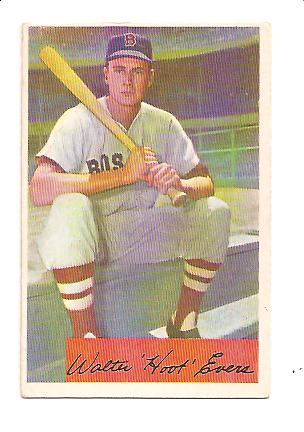 1954 Bowman #18 Hoot Evers