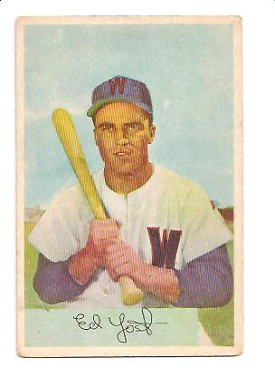 1954 Bowman #72 Eddie Yost