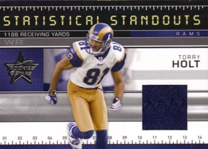 2007 Leaf Rookies and Stars Statistical Standouts Materials #14 Torry Holt