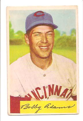 1954 Bowman #108 Bobby Adams