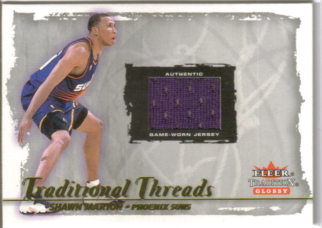 2000-01 Fleer Glossy Traditional Threads #9 Shawn Marion front image
