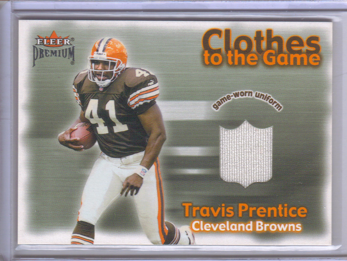 2001 Fleer Premium Clothes to the Game #17 Travis Prentice front image