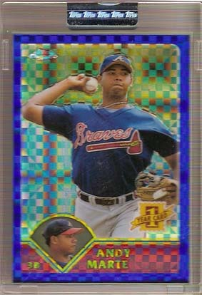 2003 Topps Chrome Uncirculated X-Fractors #208 Andy Marte FY