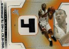 2003-04 E-X Behind the Numbers Game-Used #18 Caron Butler