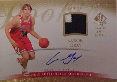 2007-08 SP Authentic #148 Aaron Gray JSY AU/599 RC