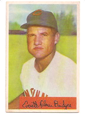 1954 Bowman #156B Rocky Bridges 328/475 Assists