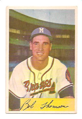 1954 Bowman #201 Bobby Thomson