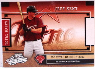 2003 Absolute Memorabilia Total Bases #22 Jeff Kent