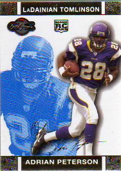 2007 Topps Co-Signers Changing Faces Gold Blue #70B Adrian Peterson/LaDainian Tomlinson