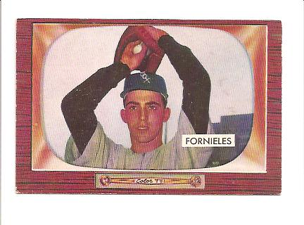 1955 Bowman #266 Mike Fornieles