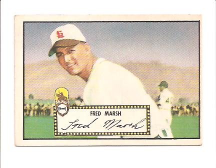 1952 Topps #8 Fred Marsh RC