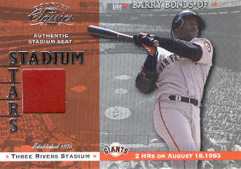 2001 Donruss Classics Stadium Stars #SS19 Barry Bonds SP