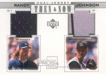 2001 Upper Deck Pros and Prospects Then and Now Game Jersey #TNRJ Randy Johnson