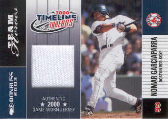 2003 Donruss Team Heroes Timeline Threads #42 Nomar Garciaparra/100