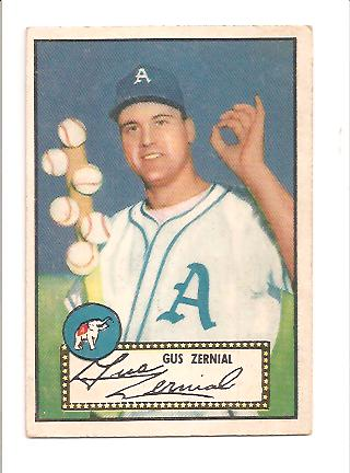 1952 Topps #31 Gus Zernial/Posed with six baseballs