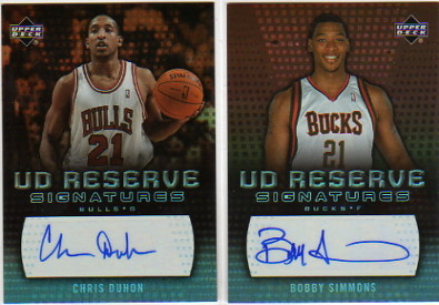 2006-07 UD Reserve Signatures #CD Chris Duhon