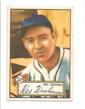 1952 Topps #75 Wes Westrum