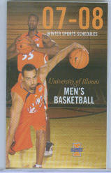2007-08 Illinois Fighting Illini Men's Basketball Pocket Schedule ~ Brian Randle - Shaun Pruitt