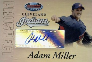 2007 Bowman's Best Prospects Blue #BBP44 Adam Miller AU